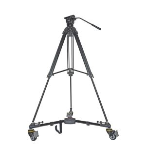 Folding Aluminum Tripod with 3 Wheels Dolly Tripod Camera Video Tripod VX-600